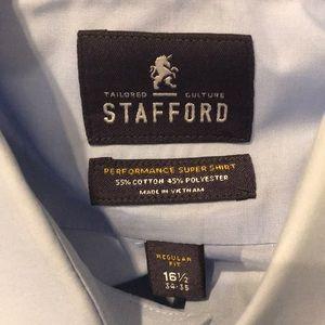 Stafford light blue dress shirt
